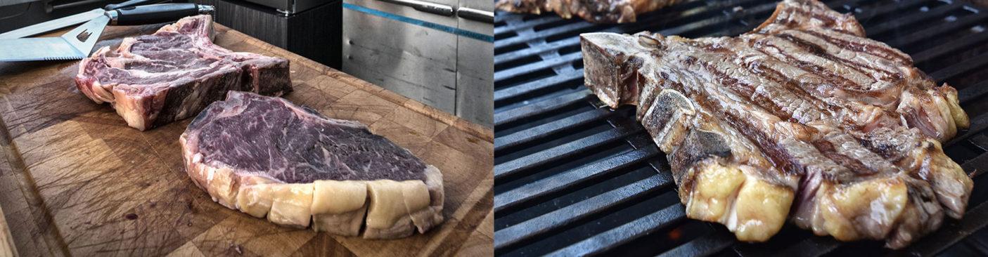 Dry-Aged Steaks Zubereitung auf dem Grill