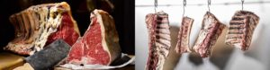 Aging on the bone, the best way of dry-aging, for a great taste