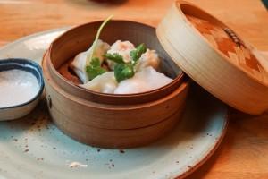 Leckeres Dim-Sum Gericht mit Dry-Aged Hackfleisch