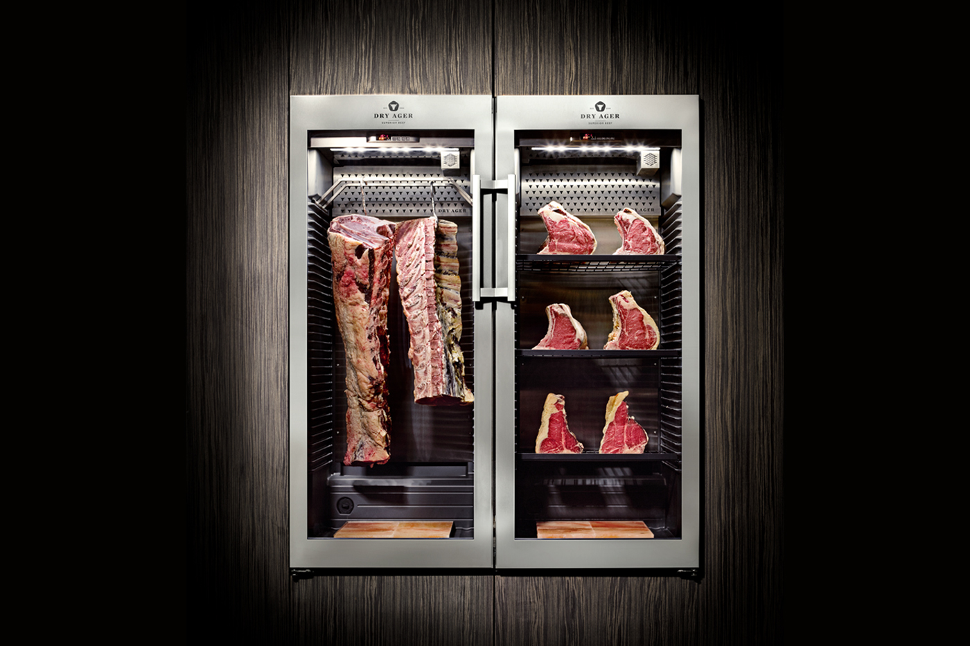 dry ager dry aging meat fridges cabinets the no 1. Black Bedroom Furniture Sets. Home Design Ideas