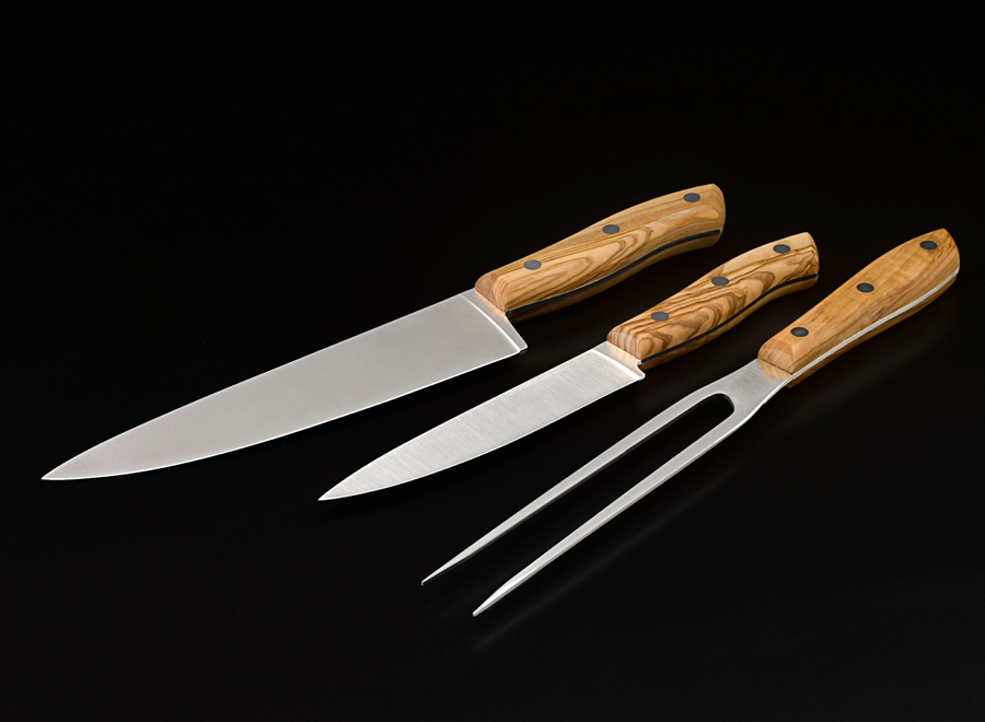 Olive Wood Knife Set (3 Piece)